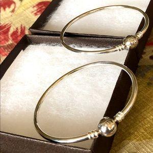 Pandora bangle bracelets 8.5 selling 2 together.